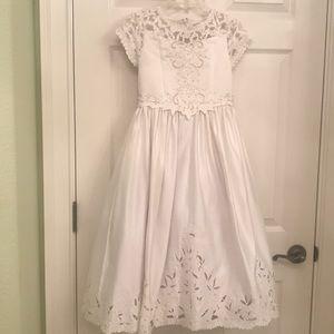 Cinderella First Communion,White dress w pearls 8